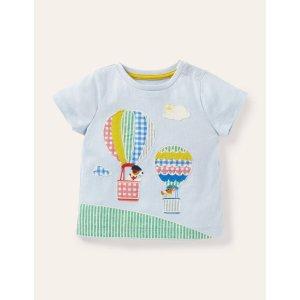 Boden婴幼儿热气球贴布绣T恤