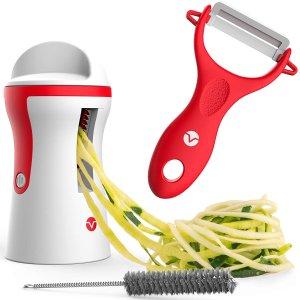 白菜价:Vremi 蔬果切丝器+削皮器+清洁刷