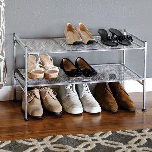 Seville Classics 超坚固金属网状2层鞋架
