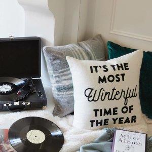 低至2.5折 $9.5收毛绒抱枕套Indigo 冬日暖暖抱枕套、毯子等促销热卖 满满舒适感