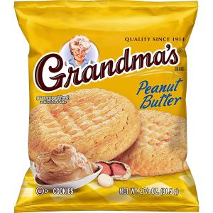 $6.66Grandma's Cookies, Peanut Butter, 2.25oz (10 Pack)