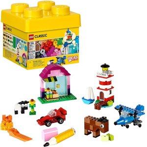 $16.99(原价$19.99)LEGO 经典创意小号积木桶10692  培养宝宝的创造力