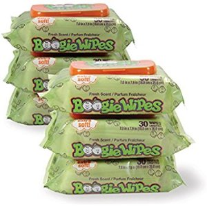Amazon.com: Boogie Wipes 30 Count/Pack of 6, Soft Natural Saline Wet Tissues for Baby and Kids Sensitive Nose, Hand and Face with Moisturizing Aloe, Chamomile and Vitamin E, Fresh Scent: Baby