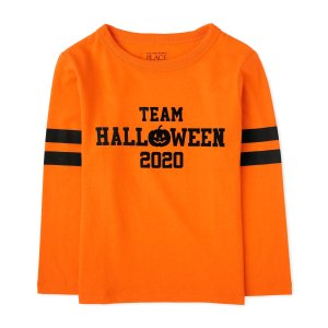The Children's PlaceUnisex Baby And Toddler Matching Family Halloween Long Sleeve 'Team Halloween 2020' Graphic Tee