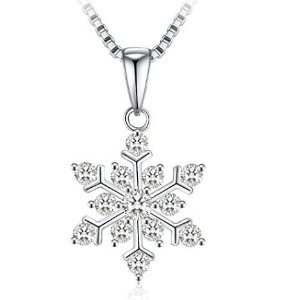 $28.87 (原价$138.99)J.Rosée 925纯银 雪花水晶锁骨项链