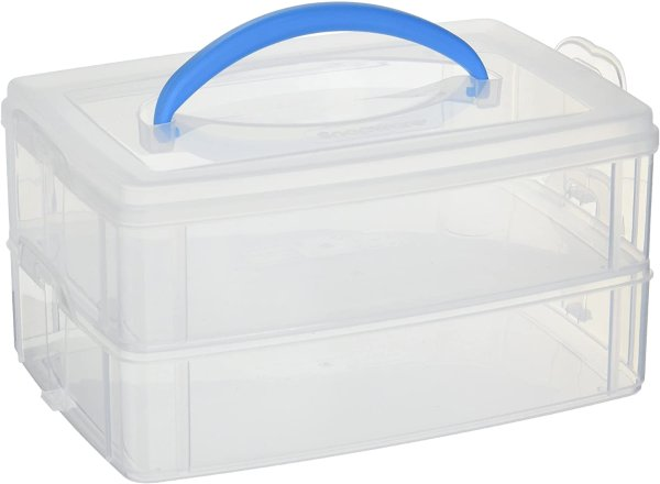 Snap 'N Stack 2层叠加储物盒