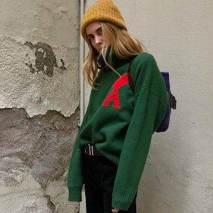 AMI ALEXANDRE MATTIUSSIOversize爱心毛衣