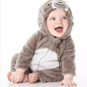 6折-7.5折+满额8折+双倍积分上新:Carter's 儿童超萌万圣节装扮服饰热卖