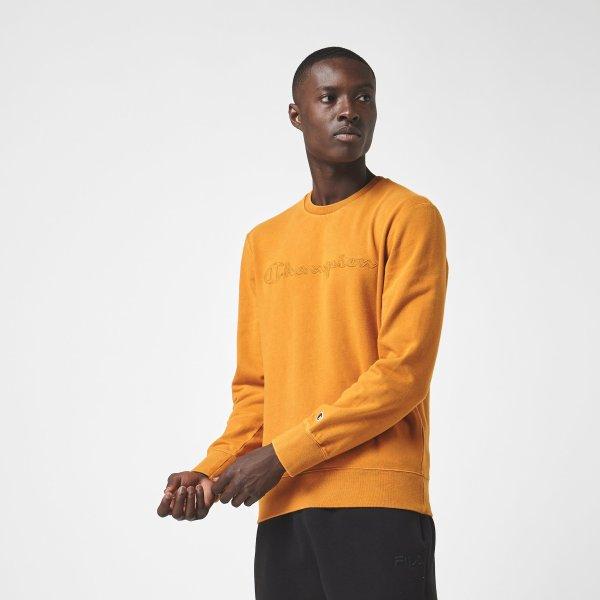 经典姜黄色圆领衫