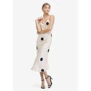 LILYSILK第二件6折波点吊带裙