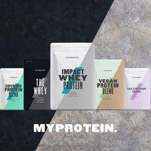 无门槛5折Myprotein官网 全站运动营养补剂,维生素,运动装备促销