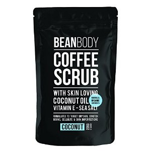 Bean Body Mr. Bean Organic All Natural Coffee Bean Exfoliating Body Skin Scrub with Coconut Oil, Vitamin E, and Sea Salt - Coconut