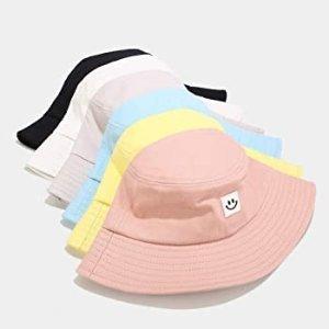 $8.87(原价$13.99)白菜价:IUAQDP 时尚可爱笑脸渔夫帽 防晒素颜神器