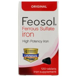 Feosol Ferrous Sulfate Iron, 120 Count, High Potency Iron Supplement - Walmart.com