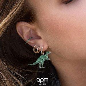 定价优势 $62起上新:APM Monaco 饰品开卖 收经典六芒星系列、不对称小恐龙