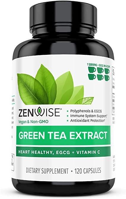 Zenwise 绿茶提取物 含 EGCG 和维生素 C 120片