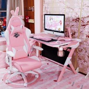 粉色鼠标垫€9.98收游戏主播同款电竞房?卡哇伊粉电竞房 九亿游戏少女的梦