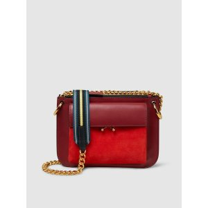 Two-Tone Red Shoulder Bag 单肩包