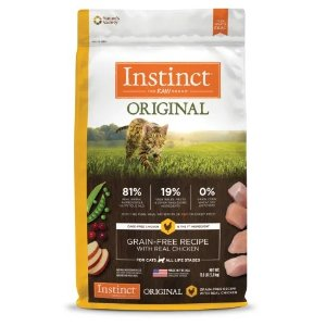 InstinctOriginal Grain-Free Recipe with Real Chicken Freeze-Dried Raw Coated Dry Cat Food, 11 lbs. | Petco
