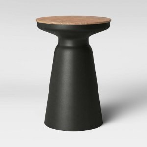 Gino Turned Drum Accent Table Black - Project 62™ : Target