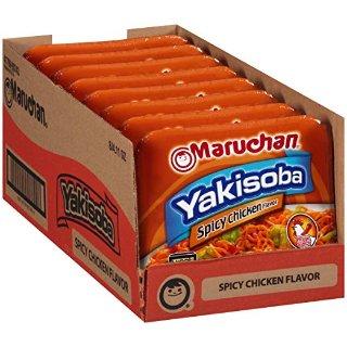 $4.32 一餐仅$0.5 夜宵必备Maruchan 辣味鸡肉风味炒面 8盒装