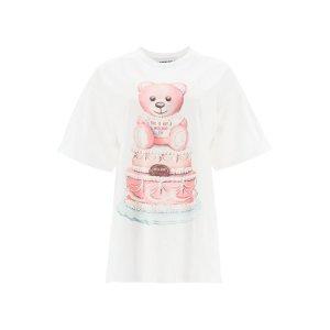 Moschino粉色小熊T恤