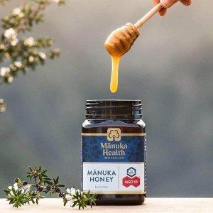$26.39(原价$32.99)Manuka health 100%新西兰麦卢卡蜂蜜 MGO 263+ 250G