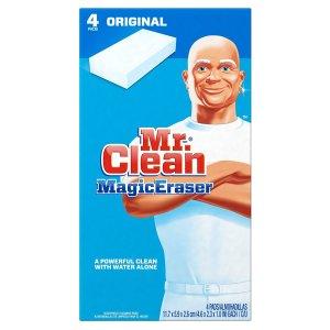 $2.47 销量冠军Mr. Clean 魔法清洁海绵 4个装