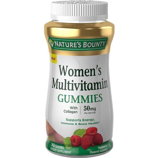 女性综合维生素软糖 + 50mg胶原蛋白 90粒