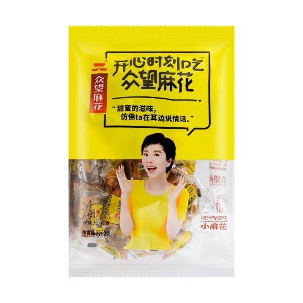 众望 一口脆小麻花 蜂蜜味 512g