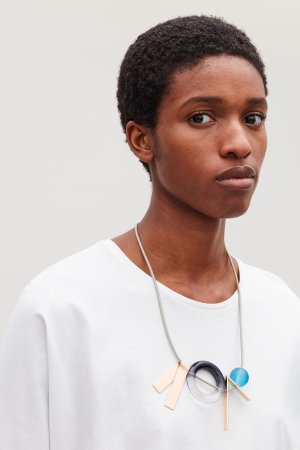 GRAPHIC LEATHER NECKLACE  - Gold - Jewellery - COS