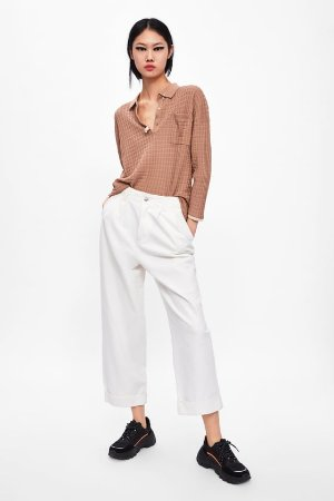 TEXTURED KNIT POLO - Tops-KNITWEAR-WOMAN | ZARA United States