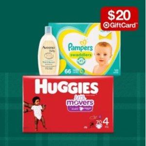 Target 婴幼儿尿布湿巾、洗护、奶瓶等热卖