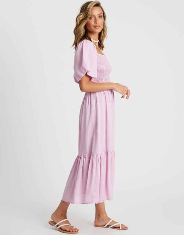 Zali淡紫色中裙