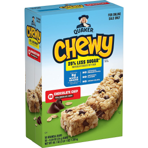$7.85Quaker Chewy Granola Bars, 3 Flavor Variety Pack, 58 Pack