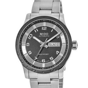 $325Dealmoon Exclusive: Mido Multifort Black Dial Stainless Steel Men's Watch