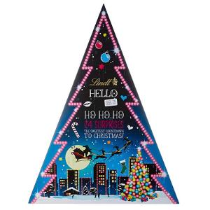 每倒数一天就吃一颗巧克力Lindt Hello 圣诞树 圣诞倒数巧克力日历礼盒 原价17.99欧 折后仅售12.29欧