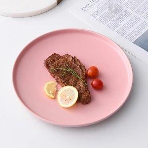 粉红色餐盘(2件)