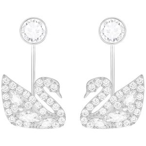 203ef54c0 SwarovskiGet $20 off $150 purchase.| Swan Lake Pierced Earring Jackets,  White, Rhodium