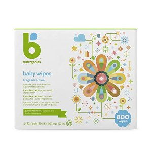 7.5折+额外9.5折+包邮Babyganics 无香型宝宝湿巾800抽,全身可用