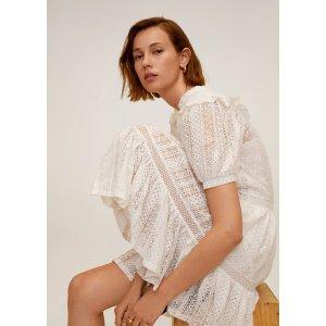 MangoOpenwork cotton dress - Women | OUTLET USA