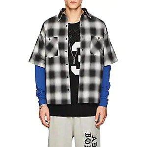 ADAPTATIONGraphic Plaid Cotton Shirt Graphic Plaid Cotton Shirt