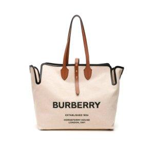 一律7.5折+免邮近期好价:Burberry 帆布tote+格纹小熊崽 最风大最香的穿搭