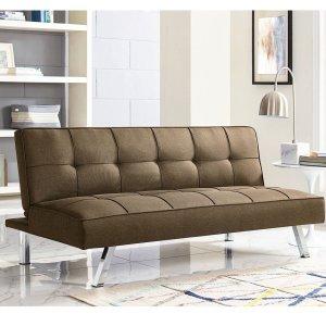 $119Serta Crestview Convertible Sofa, Brown