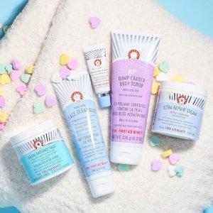 8.5折+免邮First Aid Beauty 清洁护肤专场热卖 收温和洁面 去角质棉片