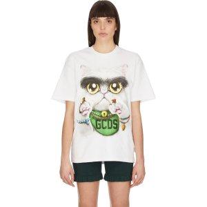 GCDS猫咪T恤