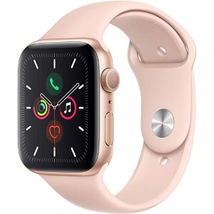 AppleWatch Series 5 (GPS, 44mm) - Gold Aluminum Case with Pink Sport Band