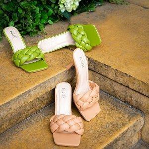 低至5折+部分额外8.5折Raid 春夏极简美鞋 平价BV风 $39收封面款编织穆勒凉鞋