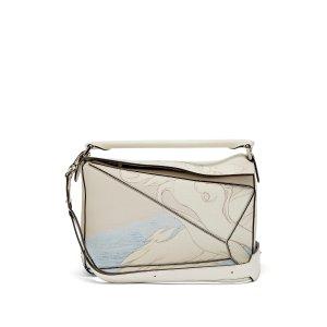 LoewePuzzle Faces-print leather shoulder bag | Loewe | MATCHESFASHION.COM US