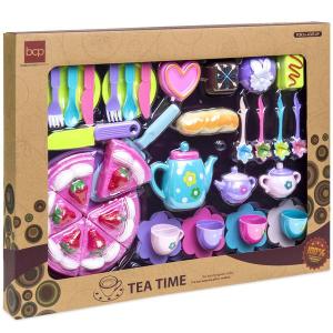 Last Day: 37-Piece Pretend Kitchen Cake Tea Foods Kids Party Playset